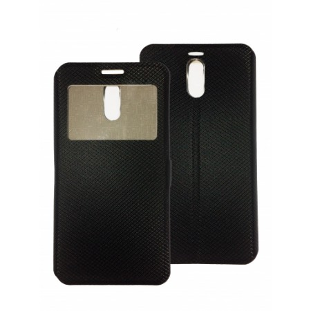 Book Window cover case for Meizu M6 Note - black