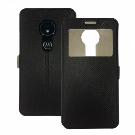 Book Window cover case for Motorola Moto E5 - black