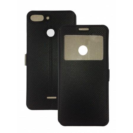 Book Window cover case for Xiaomi Redmi 6 - black