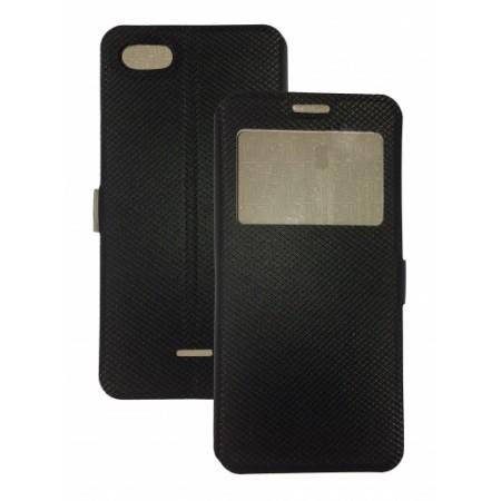 Book Window cover case for Xiaomi Redmi 6A - black