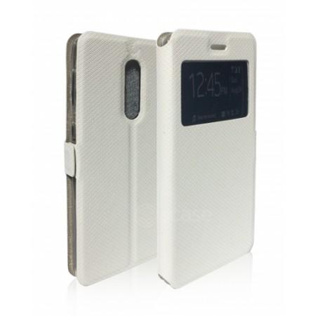 Book Window cover case for Xiaomi Redmi Note 4 - white