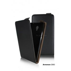 Black Flip case for Lenovo S860