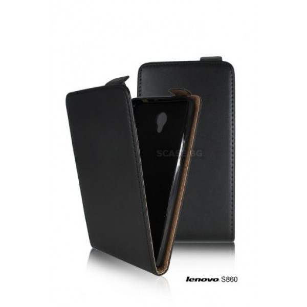 Black Flip case for Lenovo S860