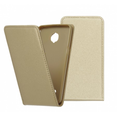 Gold Flip case for Asus Zenfone Go ZC500TG