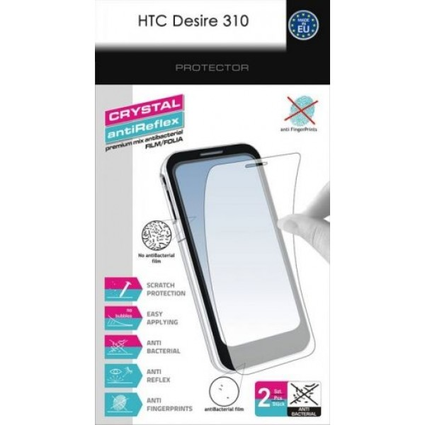 HTC Desire 310 Set crystal and anti-shine screen protector