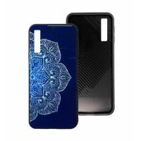 Blue Glass Case BETTER for Samsung Galaxy A7 A750F 2018