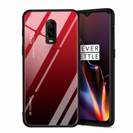 Red Glass Case Shockproof for OnePlus 6T