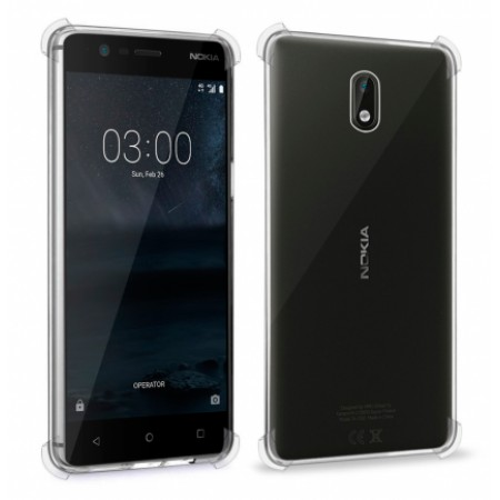 Transparent silicone backing AiRBAG for Nokia 3 TA-1032