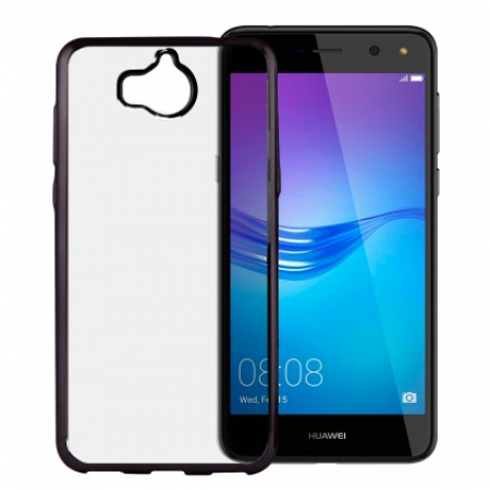 Transparent silicone graphite mirror frame for Huawei Y5 2017 / Y6 2017