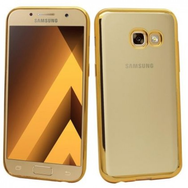Transparent silicone gold mirror frame for Samsung Galaxy A5 (2017)