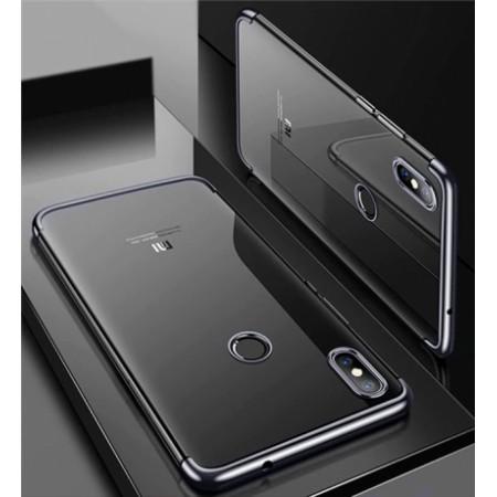 Transparent silicone back mirror frame - black for Xiaomi Mi A2 (Mi 6X)