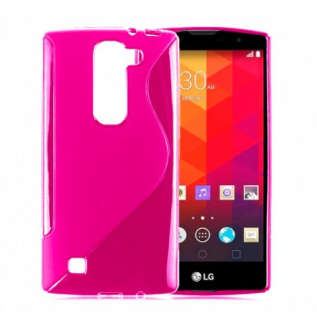 Pink S-line TPU Silicone Case for LG Leon 4G LTE H340N