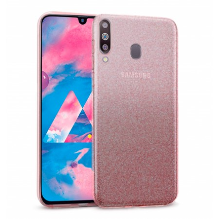 Pink Ultra Thin TPU Silicone Bling Case for Samsung Galaxy M30 / SM-M305F/DS