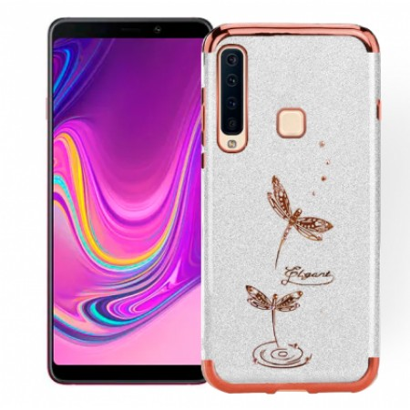 Transparent silicone rose-gold/silver mirror frame Shining case for Samsung Galaxy A9 (2018) A920