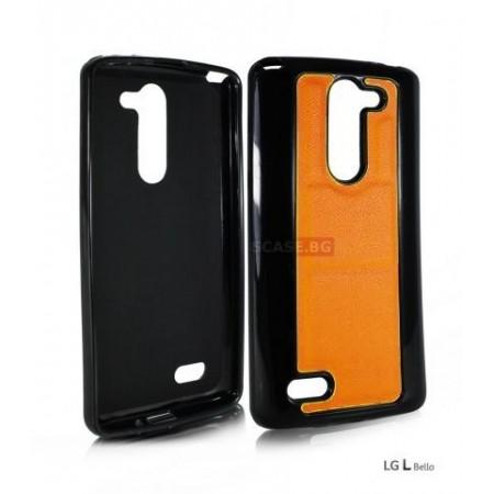 "Silicone case "" Black & Color"" for LG L Bello D331 /  D335"