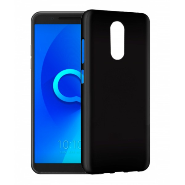 Black TPU Gel Silicone Case for Alcatel 3 5052d