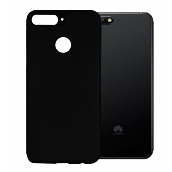Black TPU Gel Silicone Case for Huawei Y6 2018 ATU-L21