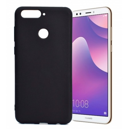 Black TPU Gel Silicone Case for Huawei Y7 Prime 2018