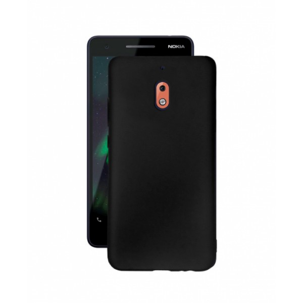 Black TPU Gel Silicone Case for Nokia 2.1