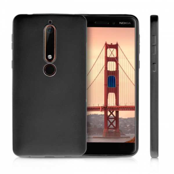 Black TPU Gel Silicone Case for Nokia 6.1 2018