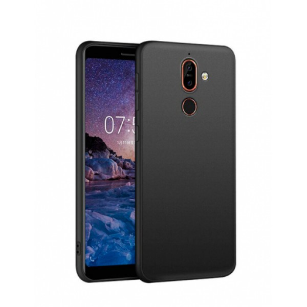 Black TPU Gel Silicone Case for Nokia 7 plus