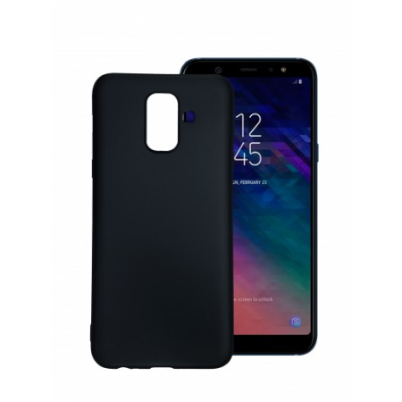 Black TPU Gel Silicone Case for Samsung Galaxy A6 2018