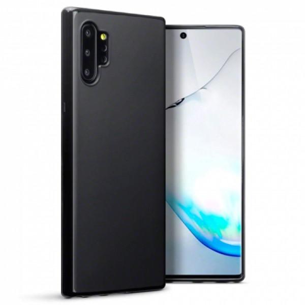 Black TPU Gel Silicone Case for Samsung Galaxy Note 10 Plus