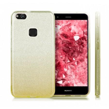 TPU Gel Silicone Case ENSIDA SHINE for Huawei P10 Lite WAS-LX1 silver/gpld