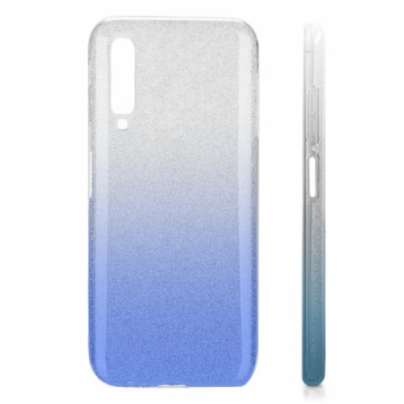 TPU Gel Silicone Case ENSIDA SHINE for Samsung Galaxy A7 (2018) A750 silver/blue