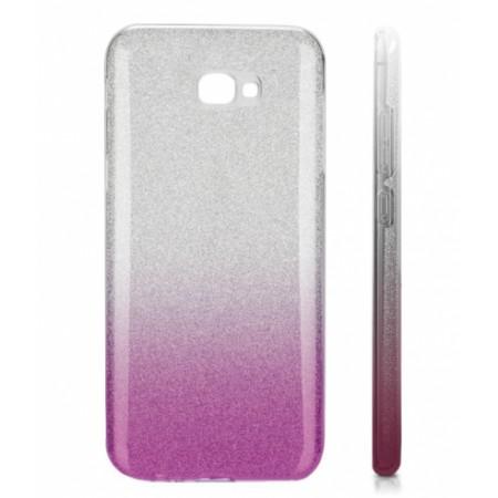 TPU Gel Silicone Case ENSIDA SHINE for Samsung Galaxy J4+ j415 silver/violet
