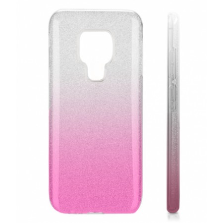 TPU Gel Silicone Case ENSIDA SHINE for Huawei Mate 20 silver/pink