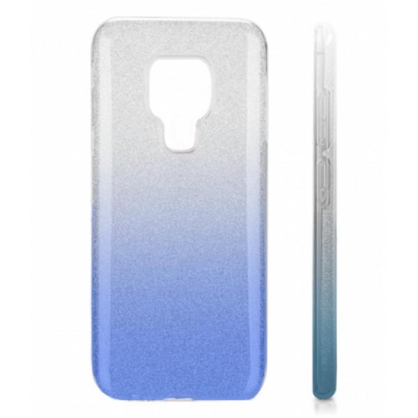 TPU Gel Silicone Case ENSIDA SHINE for Huawei Mate 20 silver/blue