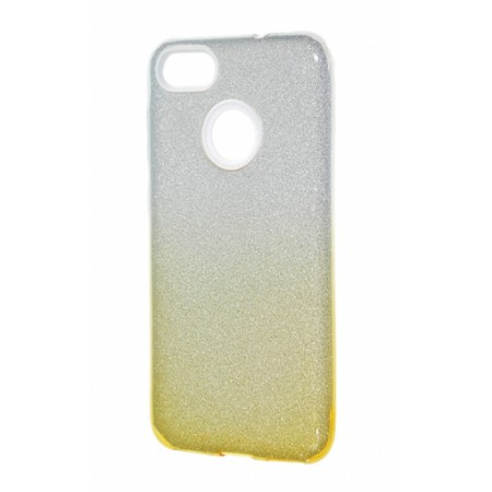 TPU Gel Silicone Case ENSIDA SHINE for Xiaomi Redmi Note 5A  / Y1 silver/gold