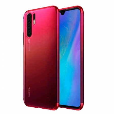Glitter Case red frame silikone case  for Huawei P30 Pro