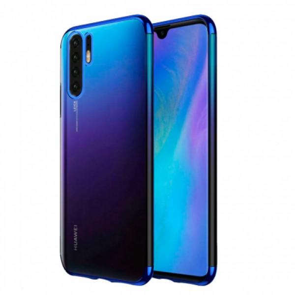 Glitter Case blue frame silikone case  for Huawei P30 Pro