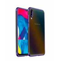 Glitter Case blue frame silikone case  for Samsung Galaxy A70 / SM-A705F