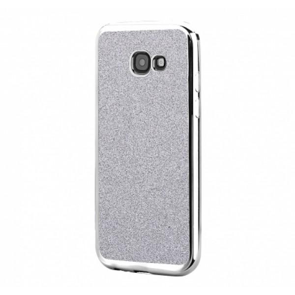 TPU Gel Silicone Glitter Case Elektro for Samsung Galaxy A5 2017 A520F silver