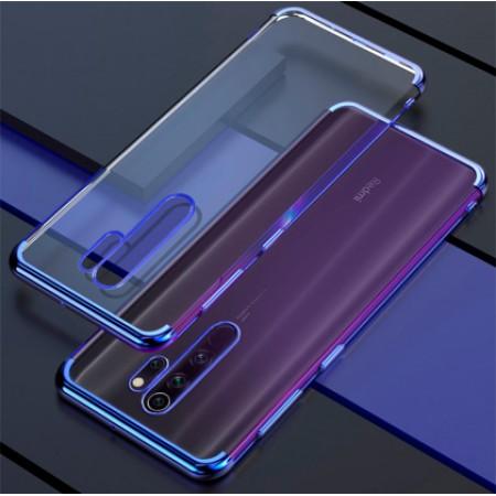 Glitter TPU Case blue frame silikone case for Xiaomi Redmi Note 8 Pro / M1906G7I