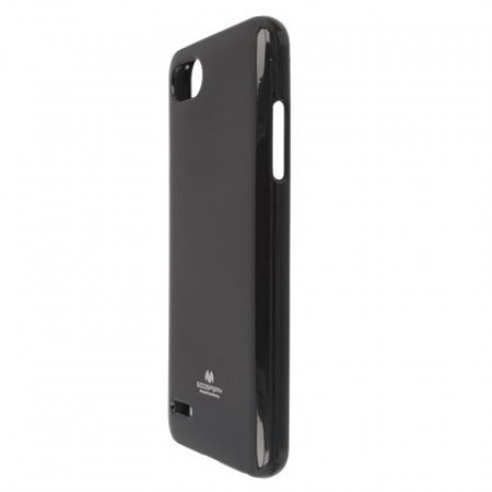 """TPU Silicone Goospery jelly """"Mercury """" Case for LG Q6 M700N - black color"""