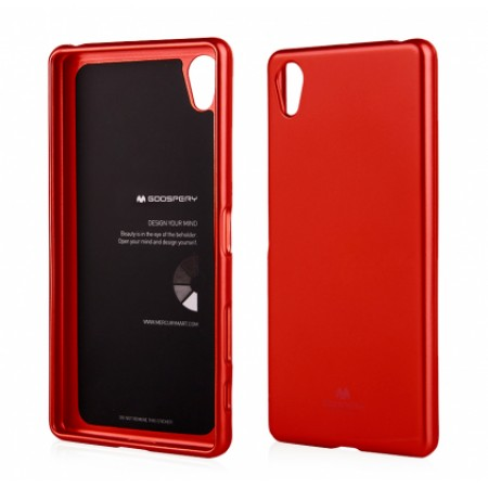 """TPU Silicone Goospery jelly """"Mercury """" Case for Sony Xperia X Dual F5122 - red"""