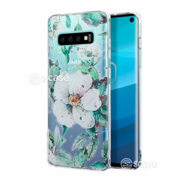 Lovely Flower - Magnolia print TPU Silicone Case for Samsung Galaxy S10e G970
