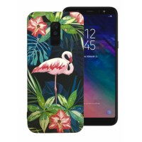 LUXO Famingo #F15 print TPU Silicone Case for Samsung Galaxy A6 Plus (2018) A605