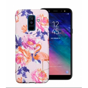 LUXO Famingo #F24 print TPU Silicone Case for Samsung Galaxy A6 Plus (2018) A605