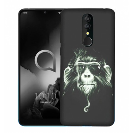"TPU Gel Silicone - Print "" Crazy Monkey"" Case for Alcatel 3 2019  / 5053"