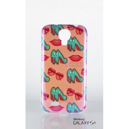 "Silicone case glossy print ""Shoes"" for Samsung S4 i9500"