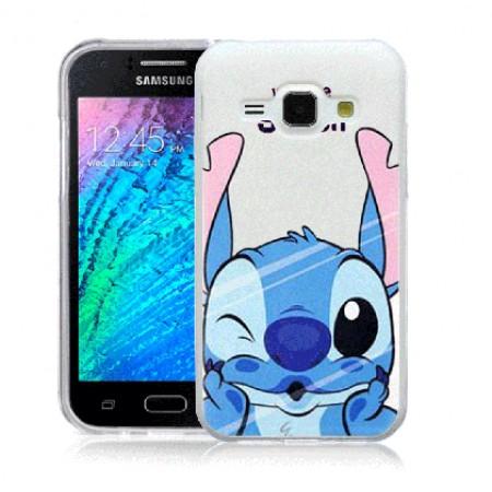 TPU Gel Silicone Case Stitch for Samsung Galaxy J1 SM-J100F