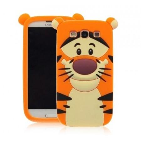 TPU Gel Silicone Case Tiger for Samsung Galaxy J1 SM-J100F