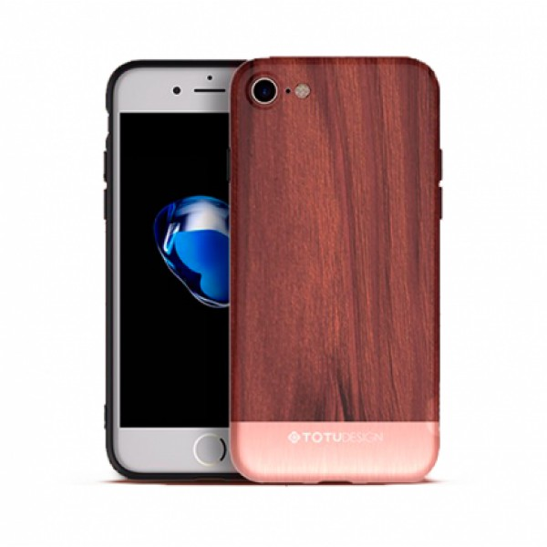 Silicone Case TOTU Design - Wood Series for iPhone 7 / 8