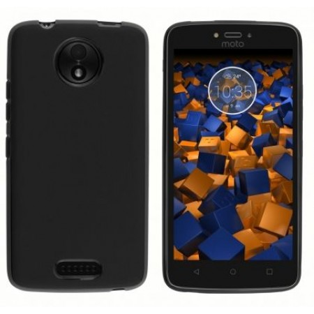 Black TPU Gel Silicone Case for Motorola Moto C