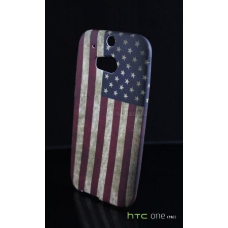 "TPU Silicone Case ""USA"" for HTC One (M8)"
